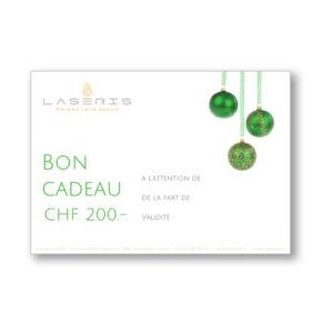 Offrir un bon cadeau du Centre Laseris à Lausanne. De la valeur de votre choix pour le traitement de votre choix. Faites plaisir à vos proches.