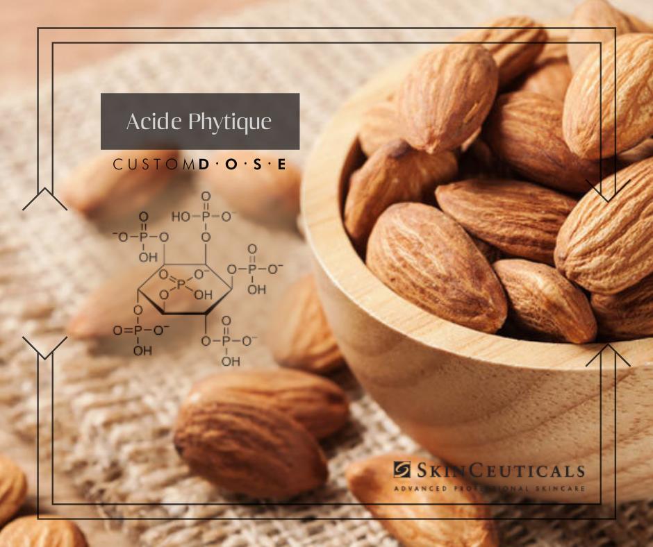 Photo montrant des amandes et graines comme source d'acide phytique pour la beauté de la peau