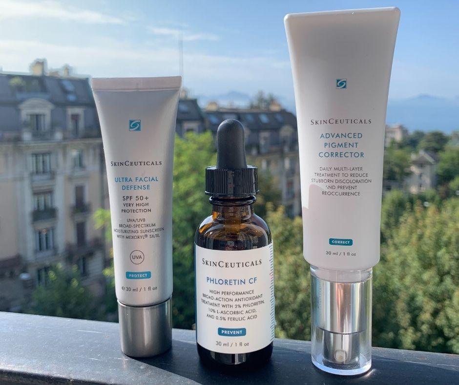 Image montrant 3 produits de la marque SkinCeuticals